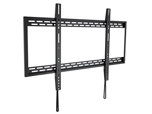 Monoprice Stable Series Fixed TV Wall Mount Bracket for TVs 60in to 100in Max Weight 220 lbs VESA Patterns Up to 900x600 Works with Concrete & Brick UL Certified Black