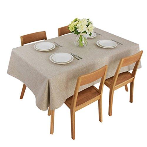 Nappes Solide Couleur Nappes Tissu Napperons Style Japonais Table à Thé Tissu Tissu Simple Moderne Coton Nappe Uni (Size : 140 * 160cm)