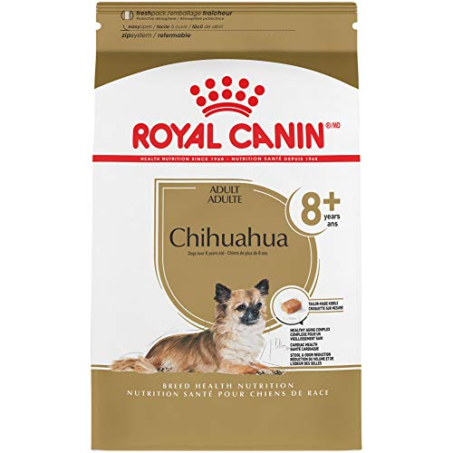 Royal Canin Chihuahua Adult 8+ Breed Specific Dry Dog Food for Senior Dogs, 2.5 lb. bag