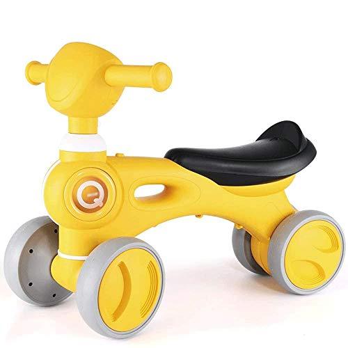 SXNYLY Bicicleta de equilibrio de los niños, triciclo, motos, bicicletas de cuatro ruedas Equilibrio del Pedalless los niños, con música, luces y 28 ° Niños de dirección y niñas Bicicletas for niños p