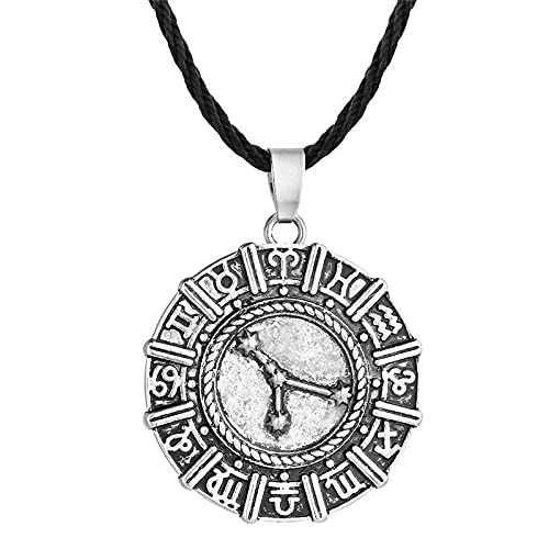 Astemdhj Collares para Hombre Colgantes Joyería Punk Hombres Antiguo Eslavo Perun Hacha Amuleto Collar Colgante Símbolo Pagano Nórdico Vikingo Talismanes Joyería Collier Qn-Vn053