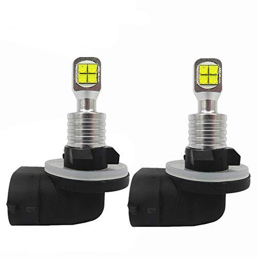 WLJH 881 889 893 H27 Ampoules à LED Blanches Ultra puissantes de la Puissance 1000LM 6000K pour des lumières d'entraînement de DRL ou des phares antibrouillard, Paquet de 2