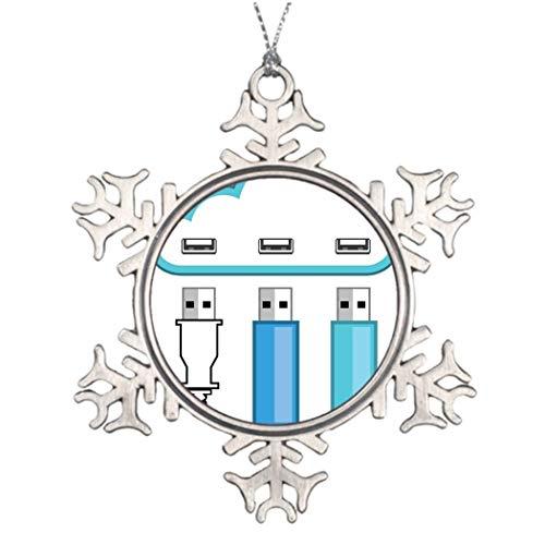 Monsety Grappige Sneeuwvlok Ornament Cloud Usb Hub Traditionele Kerst Hardware Kerstmis Geschenken Ideeën voor Boom Decoreren