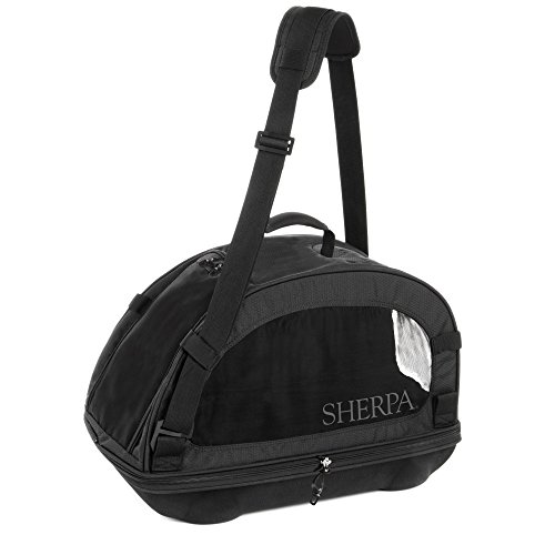 Sherpa Travel Comfort Ride Airline Approved Pet Carrier, Medium, Black