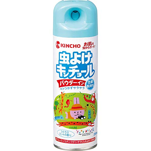 【4個セット】虫よけキンチョール パウダーイン シトラスミントの香り 200ml