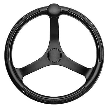 Schmitt & Ongaro 742132BFGK Primus Wheel 13.5 Black 3/4 Tapered Shaft w/Knob Finger Grips Black Powder Coat