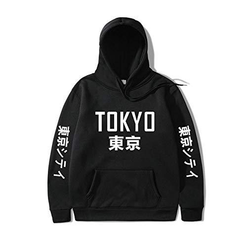 Japón Harajuku Hoodies Tokyo City Printing Sudadera con Capucha Hip Hop Streetwear Hombres/Mujeres Sudadera con Capucha