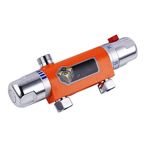 Válvula de Mezcla de Válvula de Desviador Válvula mezcladora de ducha de barra termostática Termostático Válvula de barra de barras Cromo mezclador de ducha termostático moderno Componentes del Sistem