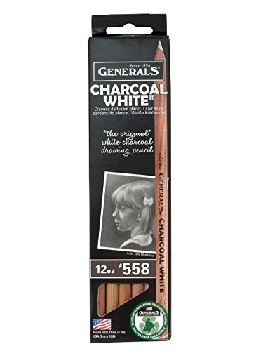 General's Charcoal White Pencils