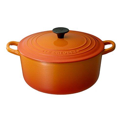 ルクルーゼ ココット ロンド ホーロー 鍋 IH 対応 20cm オレンジ 2501-20-09