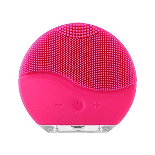 Cepillo de limpieza facial, Emater Instrumento de limpieza de piel de silicona eléctrico USB, resistente al agua, para el cuidado de la piel de limpieza profunda