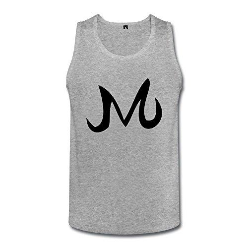 SANMU Men's Majin Symbol Tank Tops L HeatherGray