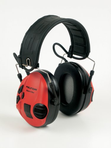 Peltor Sporttac Electronic Hunting Ear Muff Sport Tac Black & Red