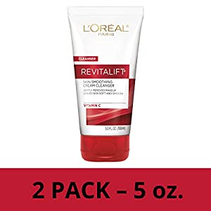 Gentle Makeup Remover, L'Oreal Paris Revitalift Radiant Smoothing Wet Facial Cream Cleanser with Vitamin C, Face Wash… 7