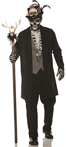 UNDERWRAPS mens Skeleton Voo Doo Adult Sized Costumes, Black, Double X-Large US