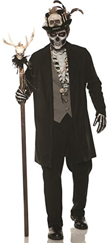 UNDERWRAPS mens Skeleton Voo Doo Adult Sized Costumes, Black, Double X-Large US