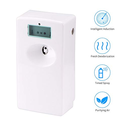 Great Features Of WUTONG Bathroom Perfume Sprayer, LCD Intelligent Air Freshener Automatic Perfume S...
