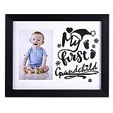 FaCraft Merry Christmas Photo Frame 8x10 My First Grandchild Black