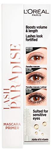L'Oréal Paris Primer für Mascara, Für Länge, Volumen und längeren Halt der Wimperntusche, Lash Paradise Primer, Transparent, 7,2 ml