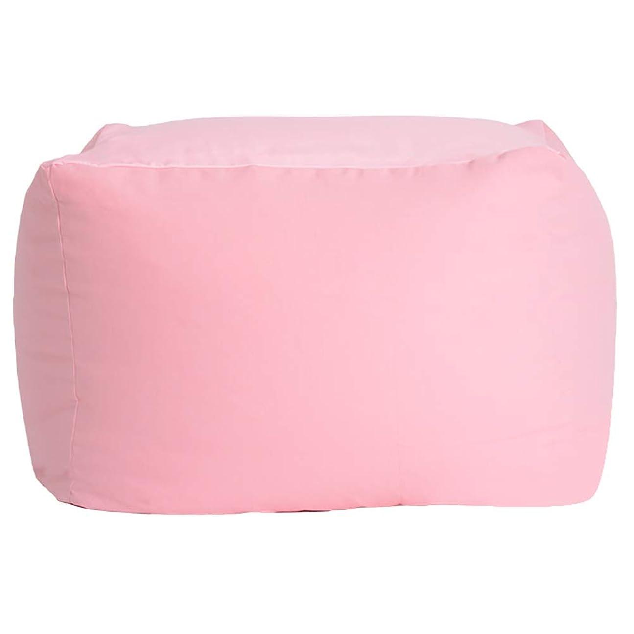 可愛い調和のとれたカウンタCAIJUN オットマン 足置き フットスツール キャンバス ミュート 多機能 ポータブル 贈り物、 4色、 2サイズ (色 : ピンク, サイズ さいず : 65x65x43cm)