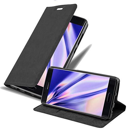 Cadorabo Hülle für Huawei Mate 9 PRO in Nacht SCHWARZ - Handyhülle mit Magnetverschluss, Standfunktion & Kartenfach - Hülle Cover Schutzhülle Etui Tasche Book Klapp Style