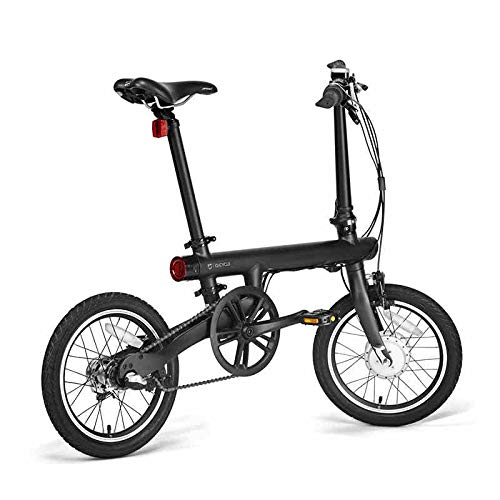 16-inch Original vélo électrique qicycle Miniature électrique Eike Smart vélo Pliant Batterie au Lithium Rice City,Black