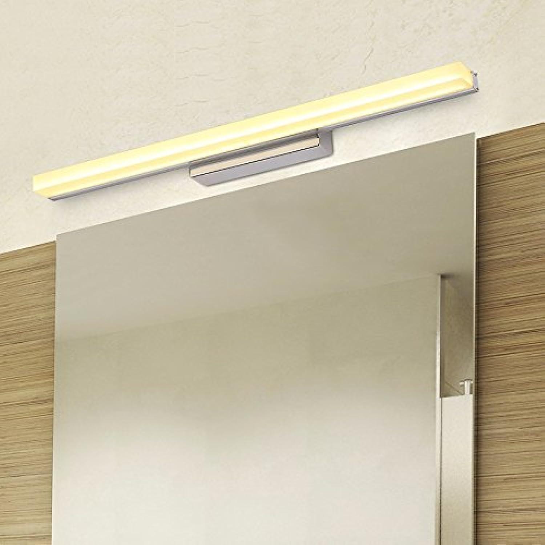 SJUN Led Wasserdicht Antibeschlag-Bad Badezimmerspiegel Beleuchtet Spiegel Lampe Lampe Einfach Moderne Spiegel Schrank Licht Led Wandleuchte,Warmes Licht,49Cm