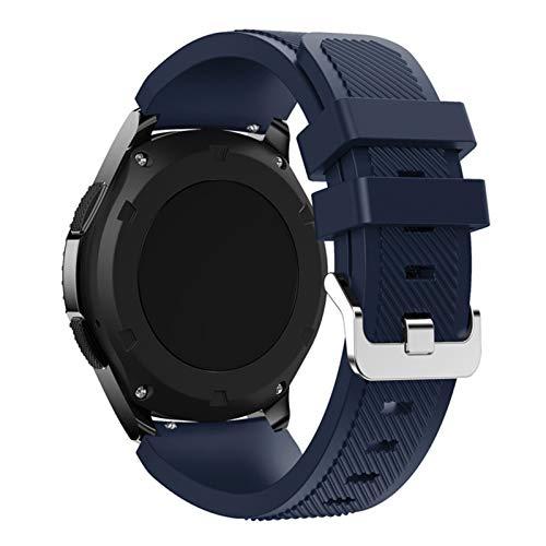 DLDQMY Correa para Samsung Galaxy Watch 46 mm/42 mm/active 2 Gear S3 Frontier para Huawei Watch Gt 2e/2 gts Correa de reloj de 20/22 mm (color de la correa: azul oscuro, ancho de la correa: 20 mm)