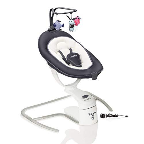 Babymoov Swoon Motion 3 in 1 Altalena Dondolo elettrico, Peso massimo bebè 9 kg, Dimensioni 65 x 72 cm