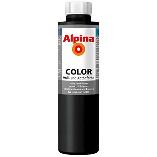 ROLLER Alpina Voll- und Abtönfarbe COLOR - nachtschwarz - 250 ml