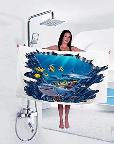 XIANGY Asciugamano in microfibra da spiaggia in mare, mare mondo oceano, asciugamano da bagno da donna e da uomo, ideale per piscina e vacanze in spiaggia (100 x 180 cm, 10)