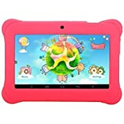 iRULU BabyPad Y1 7 Inch Android Tablet for Kids, with Games, Dual Cameras, Wi-Fi, Google Play Store, Children World, 1024600 HD Resolution, 1GB RAM, 8GB Nand Flash (Pink)