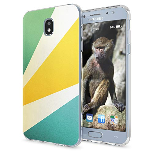 NALIA Custodia compatibile con Samsung Galaxy J3 2017 (EU-Model), Motivo Cover Protezione Silicone Trasparente Sottile Case, Morbido Ultra-Slim Protettiva Bumper Guscio, Designs:Retro