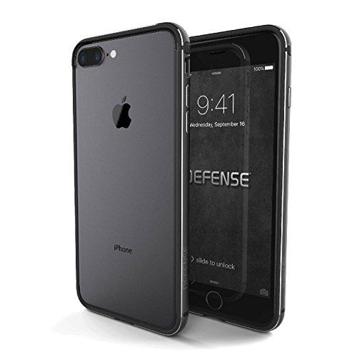 iPhone 7 Plus Case, X-Doria Defense Edge Series - Anodized Aluminum and TPU Frame, Bumper Case for Apple iPhone 7 Plus, [Space Gray]