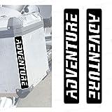 2 tiras reflectantes compatibles con Touratech Maletas laterales (negro)