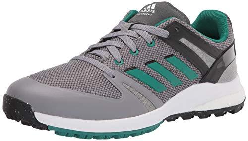 adidas mens Golf Shoe, Grey/Green/Black, 10 US
