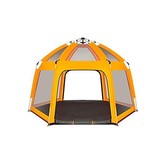 Utilisation multiple Sports de plein air Tente Camping Épaississement extérieur automatique Crème solaire anti-pluie respirant coupe-vent Tente pliante Équipement d'extérieur ( Color : Orange )
