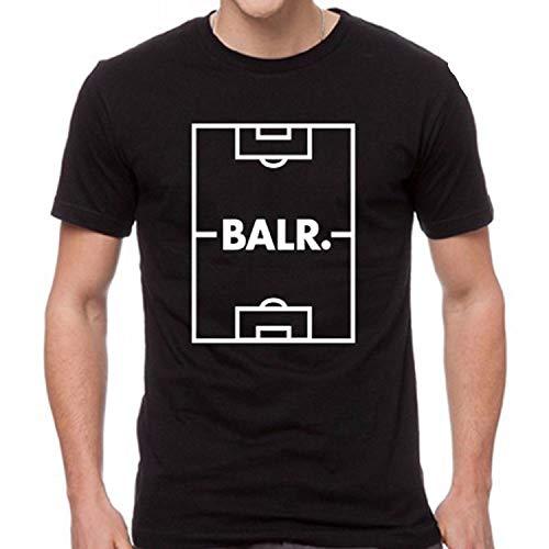 BALR Soccer Fan Logo Men's Black T-Shirt Unisex,L