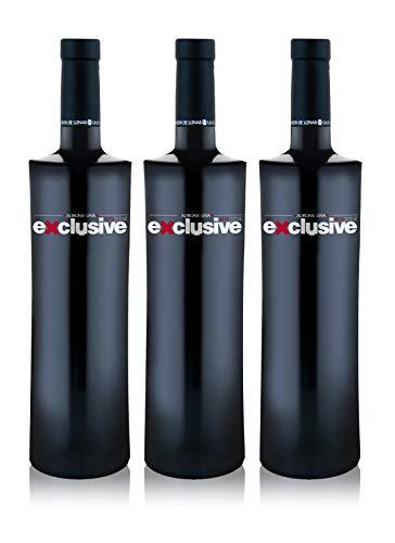 LADRÓN DE LUNAS Vino Tinto Exclusive. D.O Utiel-Requena. Madurado 15 meses en Barrica y 20 en Botella. 100% Bobal. Botella de 75 Cl (Pack de 3 botellas)