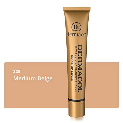 Dermacol Deckendes Make-up Cover für Gesicht und Hals - Wasserfeste Foundation mit LSF 30 für einen makellosen Teint, 30g (225)