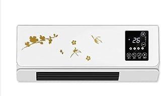 Yuan Dun'er Calefactor pies,Calentador de Interruptor táctil LED montado en la Pared Hogar Ahorro de energía Control Remoto PTC Aire Calentador eléctrico Ventilador Baño Aire Acondicionado Enfriador