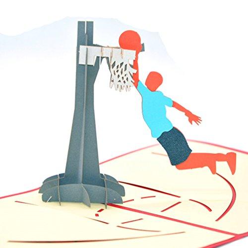 Medigy 3D Pop-up-Grußkarte, Basketball, Geschenk