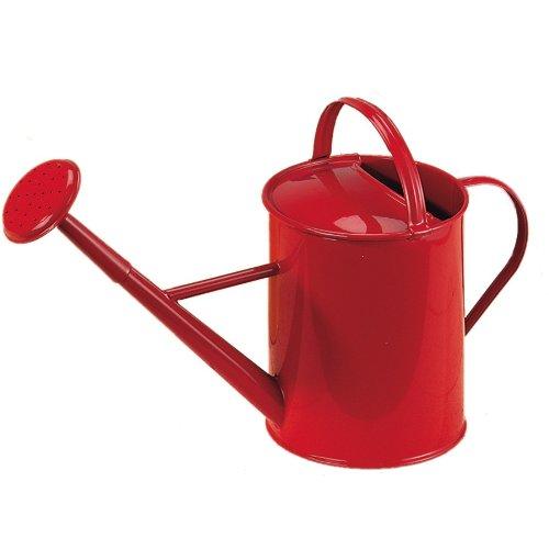 Glückskäfer 535074 Gießkanne, Metall, 0,85 Liter, rot