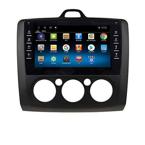 hizpo Autoradio Bluetooth Manos Libres Compatible con Ford Focus Exi MT 2 3 Mk2/Mk3 2004-2011 GPS Control Volante WiFi 4G Cámara Trasera Dab DVR Enlace de Duplicación /FM Radio/USB/OBD2 Negro