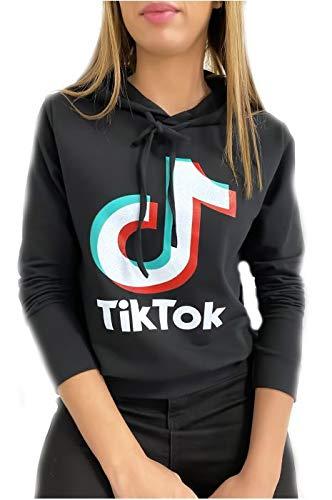 idea regalo TIKTOK maglione leggero con cappuccio Felpa da donna tipo TIK TOK Mi-Stagione: vari colori disponibili DCC