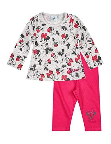 Minnie Ensemble Legging et T-Shirt bébé Fille Gris/Rose foncé de 3 à 24mois - Gris/Rose foncé, 12 Mois