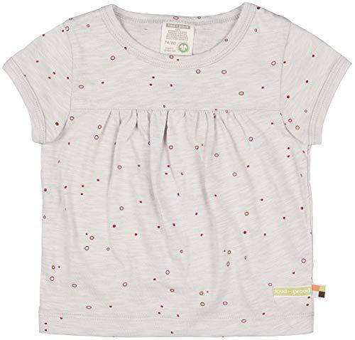loud + proud Unisex Baby Slub Jersey mit Druck, GOTS Zertifiziert Tunika-Shirt, Stone, 98/104