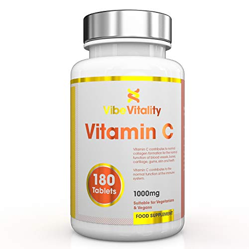 Vibe Vitality Vitamin C - 1000 mg, 180 Tabletten, vegan