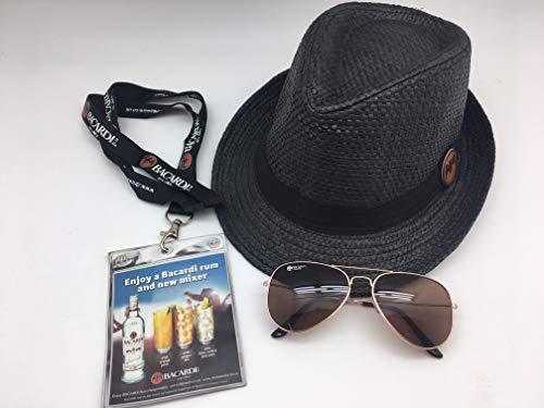 BACARDI Summer Set XL Hut+Pilotenbrille+Schlüsselband