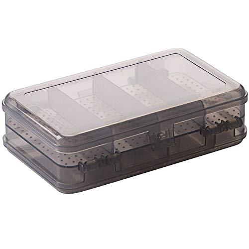 liyandianzi Double-Layer-Schmuck-Box anzuzeigen beweglicher Plastikohrring Zahnstangen-Organisator Transparent...